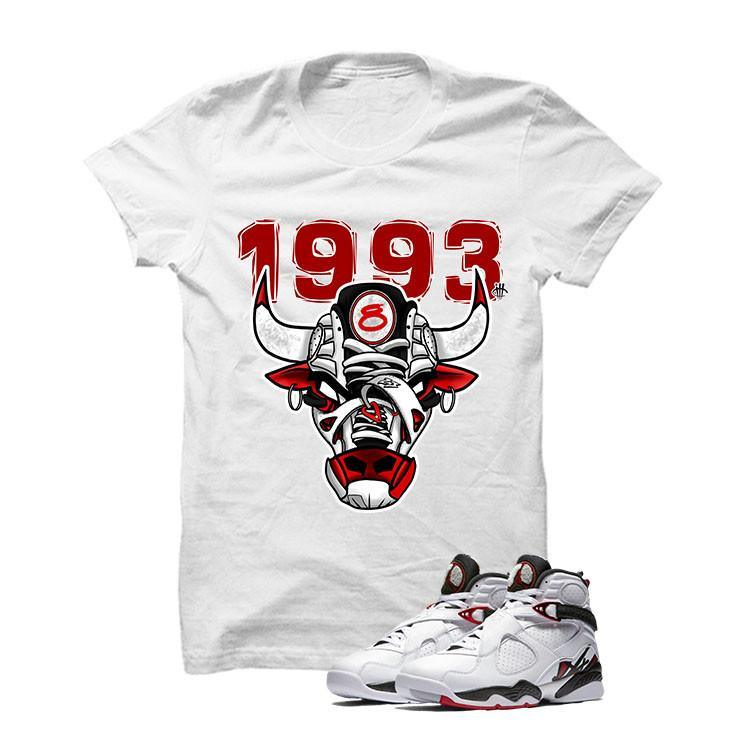 Jordan 8 Alternate White T Shirt (1993 Bulls)
