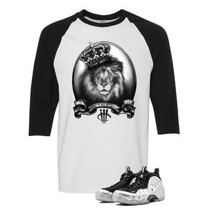 Foamposite Pro Silver Surfer White And Black Baseball T's (A Kings Life)