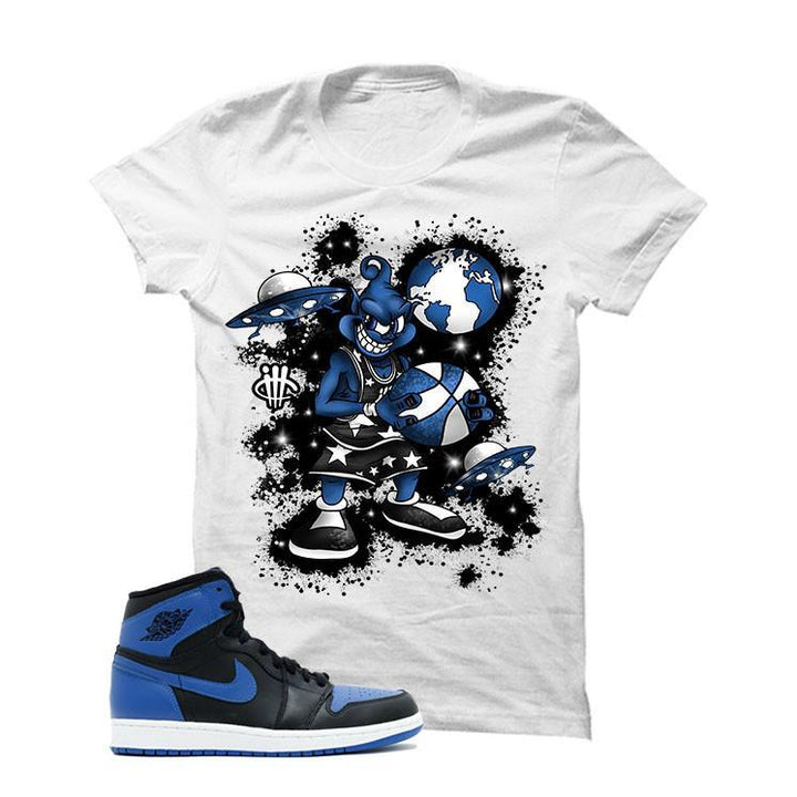 Jordan 1 Og Royal White T Shirt (Alien Mike)
