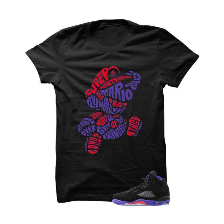 Jordan 5 Gs Raptors Black T Shirt (Mario Bros)