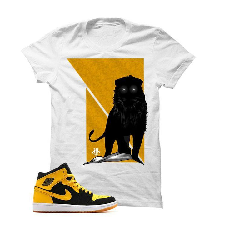 Jordan 1 Mid New Love White T Shirt (Lion)