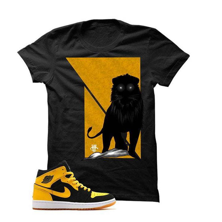 Jordan 1 Mid New Love Black T Shirt (Lion)