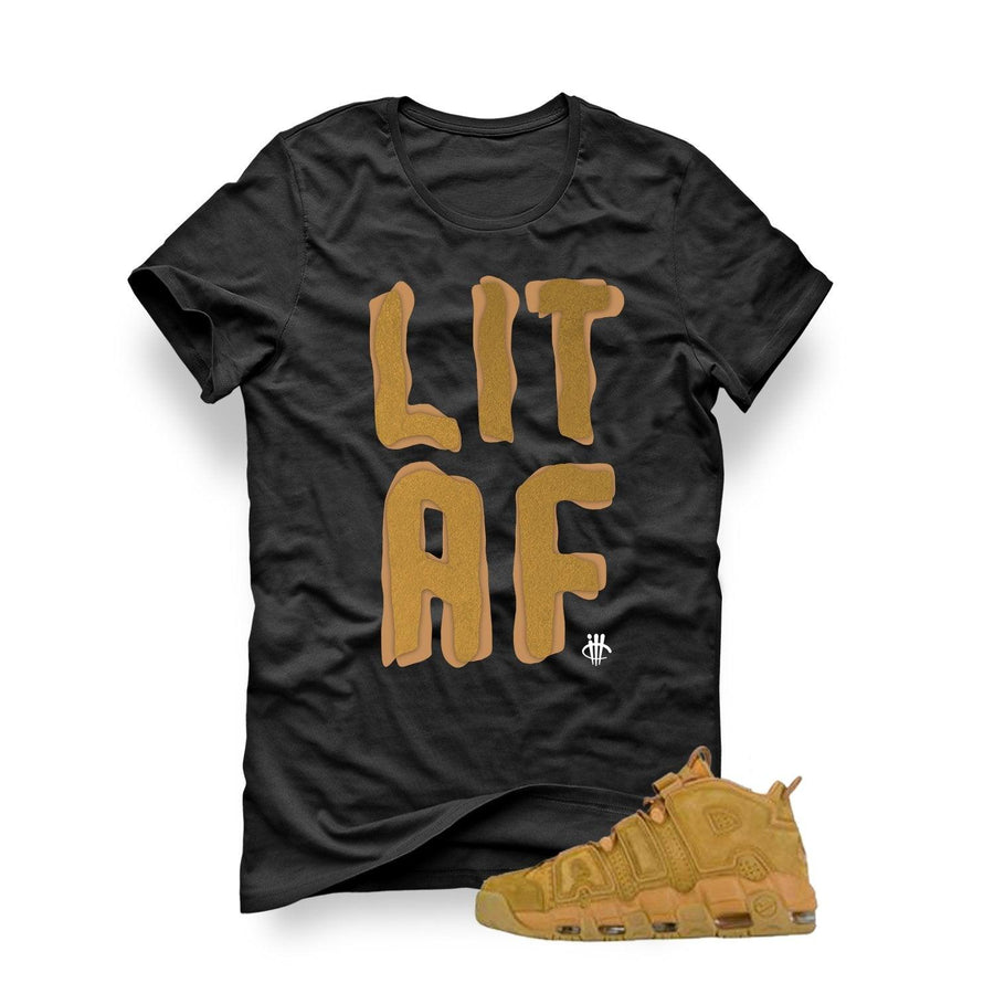 Nike Air More Uptempo Wheat Flax black T (Lit AF)