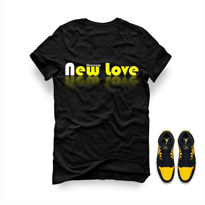 Jordan 1 Mid New Love Black T Shirt (New Love)