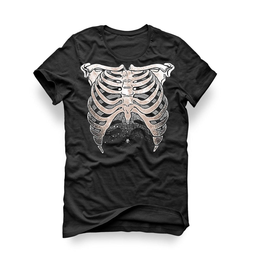 Halloween Collection 2017 Black T Shirt (Rib Cage)