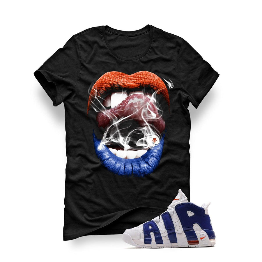 Nike Air More Uptempo Knicks Black T Shirt (Smoke N Lips)