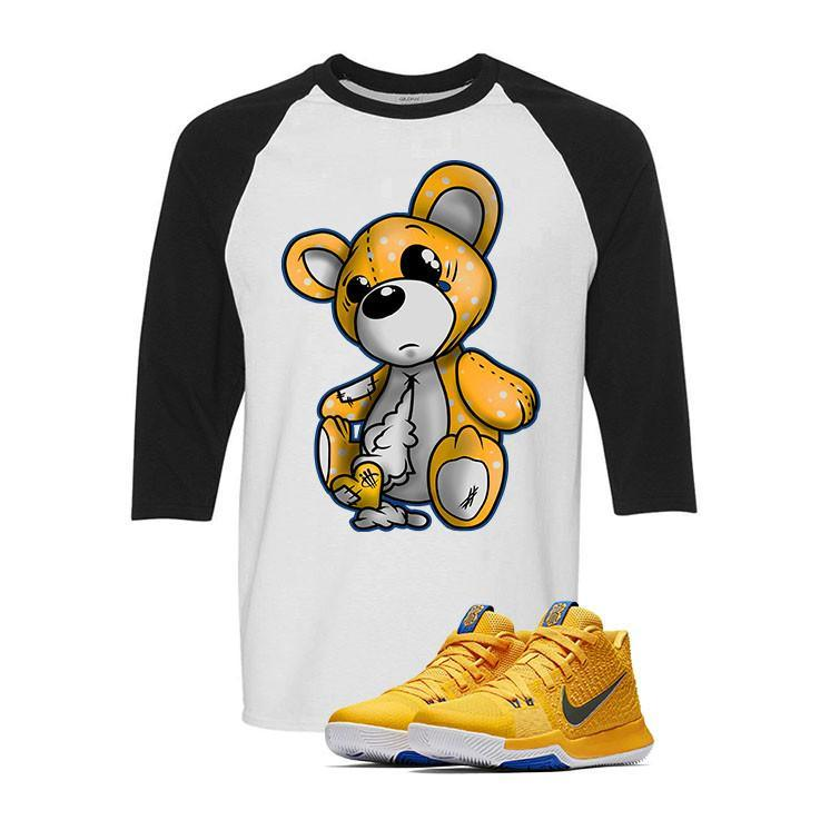 Nike Kyrie 3 Mac and Cheese Kids White & Black Baseball T (TEDDY)
