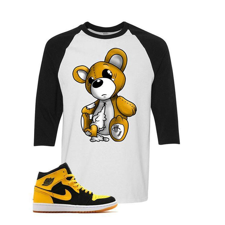 Jordan 1 Mid New Love White And Black Baseball T's (Teddy)