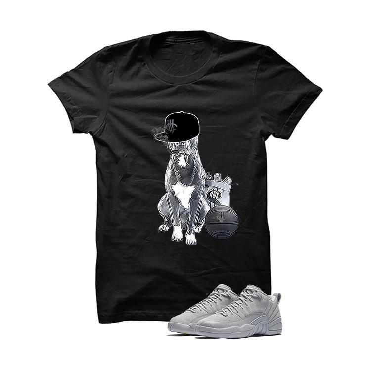 Jordan 12 Low Wolf Grey Black T Shirt (Cool Dog)