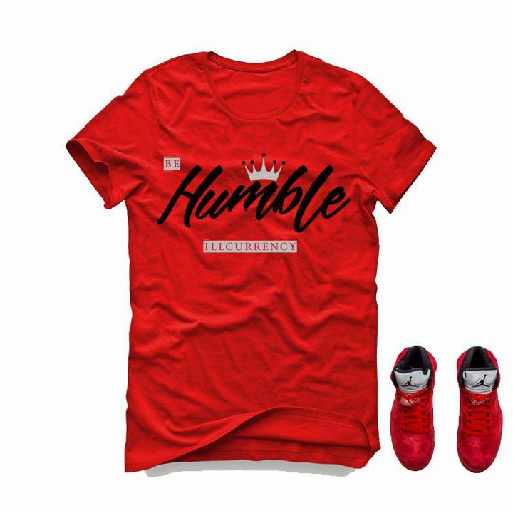 Air Jordan 5 University Red Red T (Be Humble)