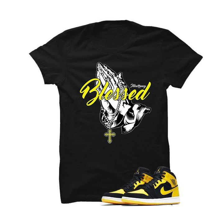 Jordan 1 Mid New Love Black T Shirt (blessed)