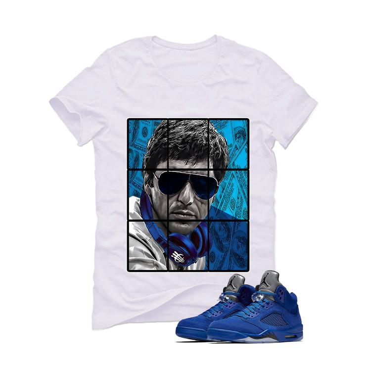 Air Jordan 5 Blue Suede White T (Pacino)