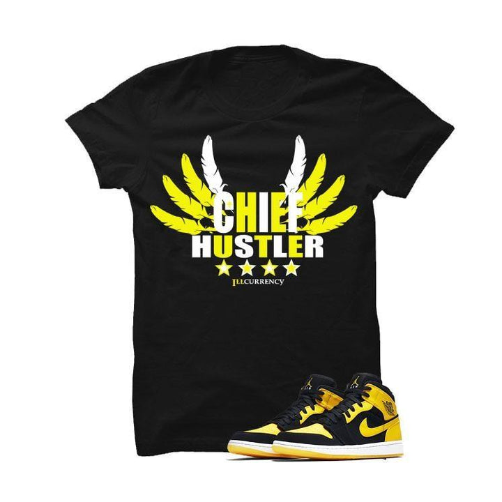Jordan 1 Mid New Love Black T Shirt (chief hustler)