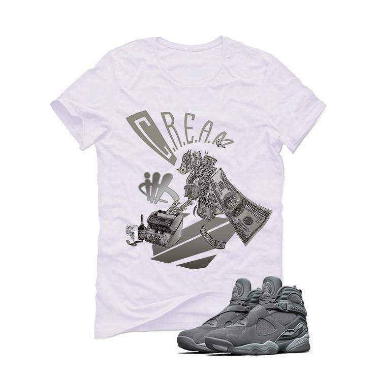 Air Jordan 8 Cool Grey White T (Cream)