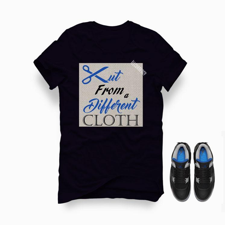 Jordan 4 Game Royal Black T Shirt (Cut from a different cloth)
