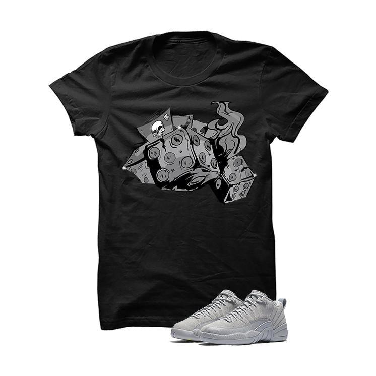 Jordan 12 Low Wolf Grey Black T Shirt (Dead Dice)