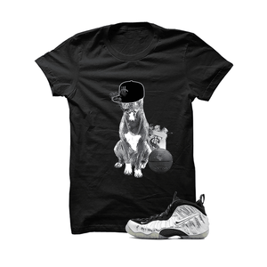 Foamposite Pro Silver Surfer Black T Shirt (Chill Dog)