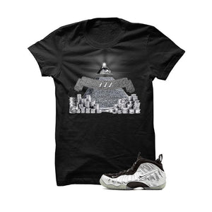 Foamposite Pro Silver Surfer Black T Shirt (ill Eye)