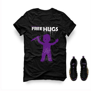 Foamposite One Eggplant Black T Shirt (Free Hugs)