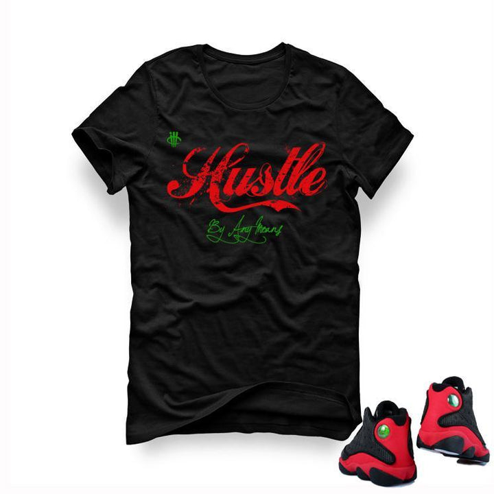 "Air Jordan 13 ""Bred"" Black T (Hustle by any means)"