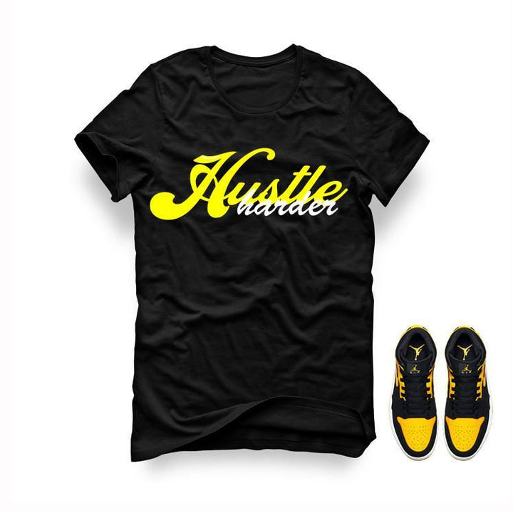 Jordan 1 Mid New Love Black T Shirt (Hustle Harder)