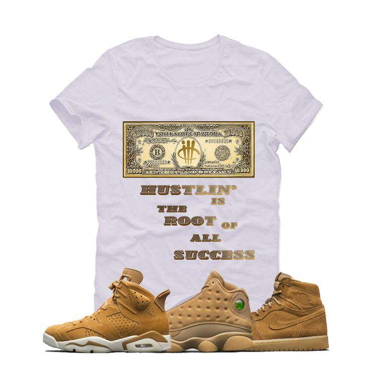 Jordans Retro/Gold/Harvest White T (hustlin')