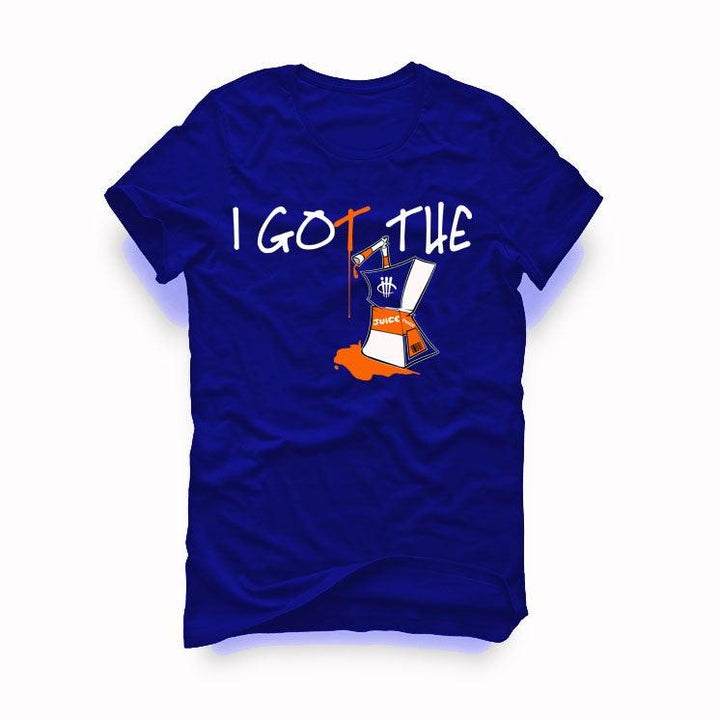 "AIR JORDAN 3 ""KNICKS"" Royal Blue T-Shirt (I got the juice)"