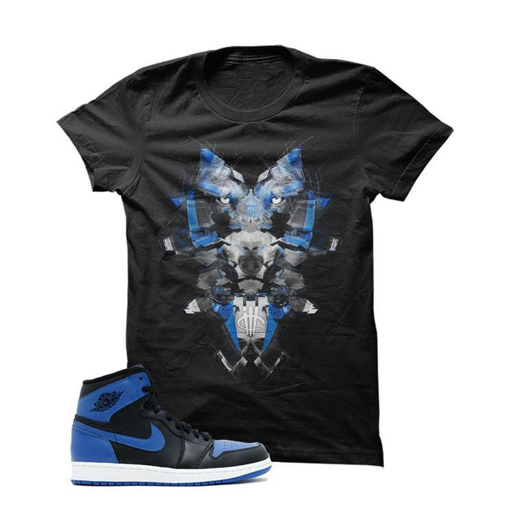 Jordan 1 Og Royal Black T Shirt (GlitchWolf)