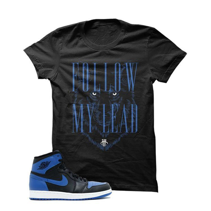 Jordan 1 Og Royal Black T Shirt (Follow)