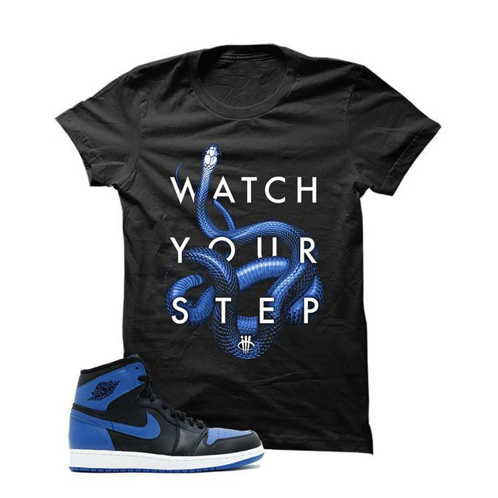 Jordan 1 Og Royal Black T Shirt (Watch)