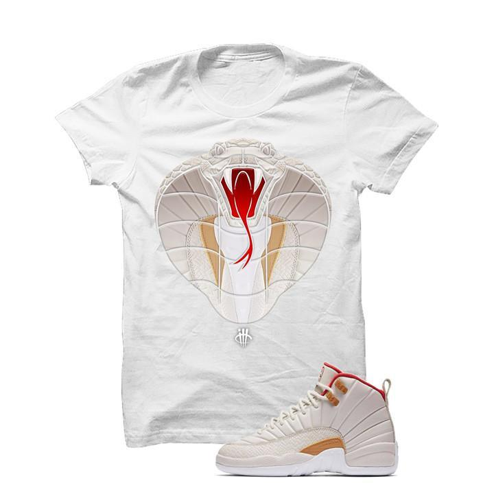 Jordan 12 CNY Gs Chinese New Year White T Shirt (Cobra)