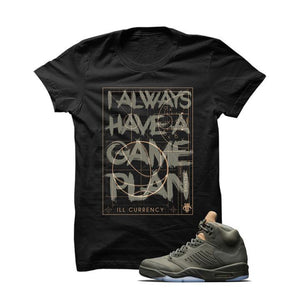 Jordan 5 Take Flight Black T Shirt (Game Plan)