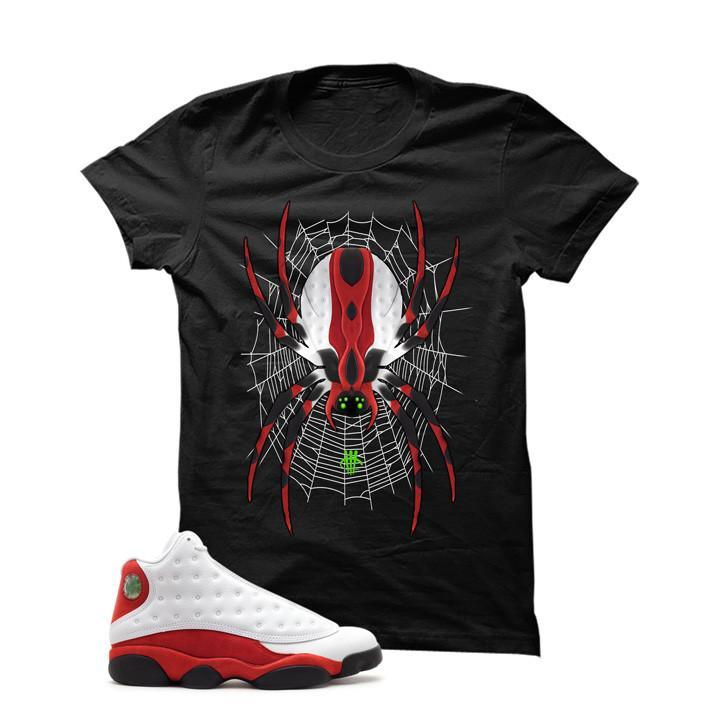 Jordan 13 Chicago Black T Shirt (Spider)