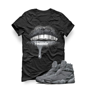 Air Jordan 8 Cool Grey Black T (Lips)
