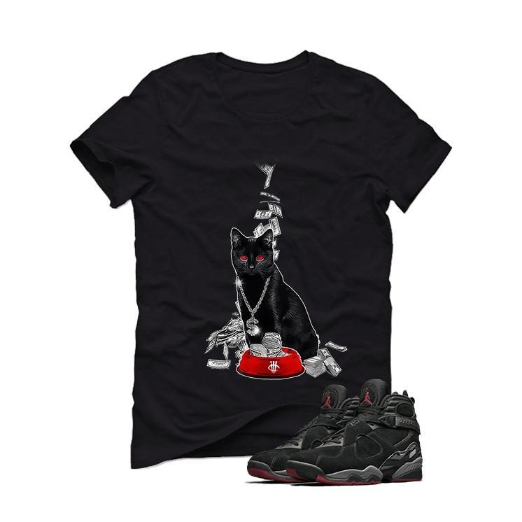 Air Jordan 8 Cement Bred Black T (moneycat)