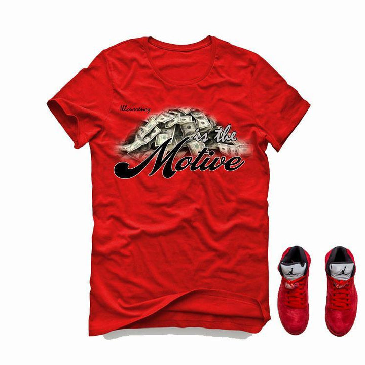 Air Jordan 5 University Red Red T (Money is the motive)