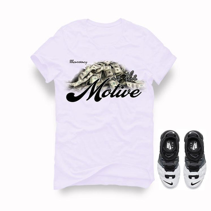 Nike Air More Uptempo Tri Color White T Shirt (Money is the motive)