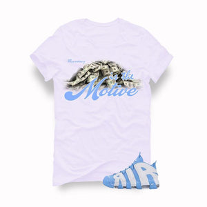 Nike Air More Uptempo UNC White T (Money is the motive)