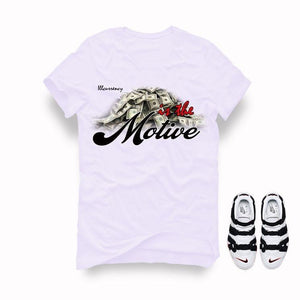 Nike Air More Uptempo White Black T Shirt (Money is the motive)