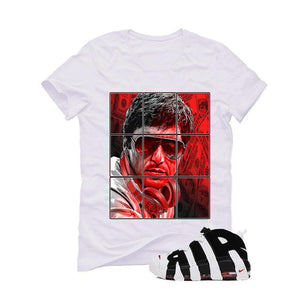 Nike Air More Uptempo White black T Shirt (Pacino)