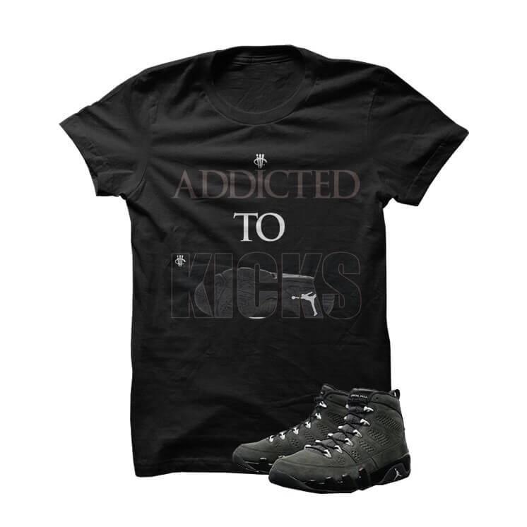 Addicted To Kicks Jordan 9 Anthracite Black T Shirt