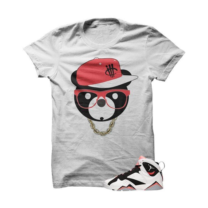 ill Bear Hot Lava 7s White T Shirt