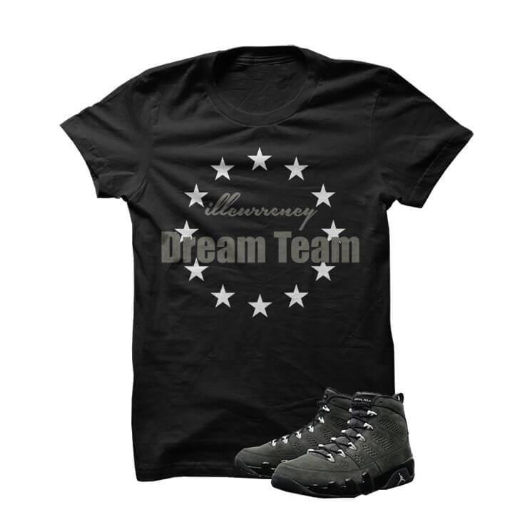illcurrency Dream Team Jordan 9 Anthracite Black T Shirt