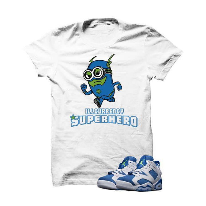illcurrency Superhero  Insignia Blue 6s White T Shirt
