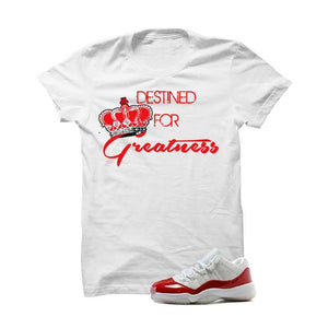 Jordan 11 Low Varsity Red White T Shirt (Destined For Greatness)