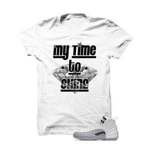 Jordan 12 Gs Barons White T Shirt (My Time To Shine)