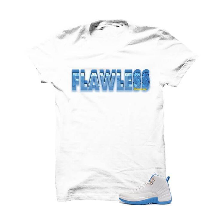 Jordan 12 Gs University Blue White T Shirt (Flawless)