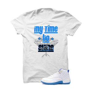 Jordan 12 Gs University Blue White T Shirt (My Time To Shine)