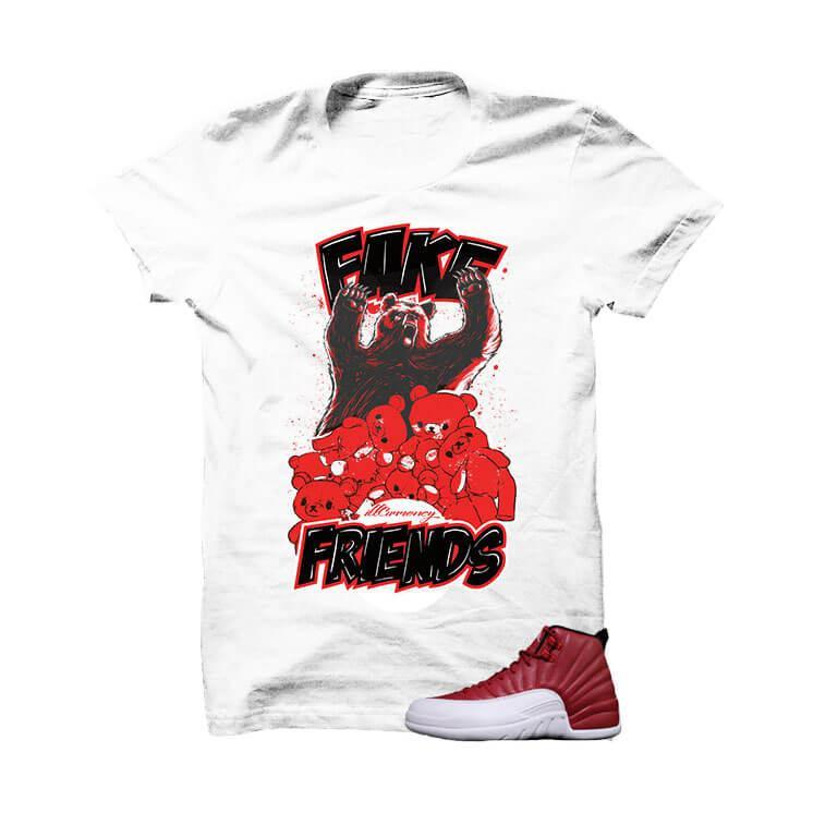 Jordan 12 Gym Red White T Shirt (Fake Friends)