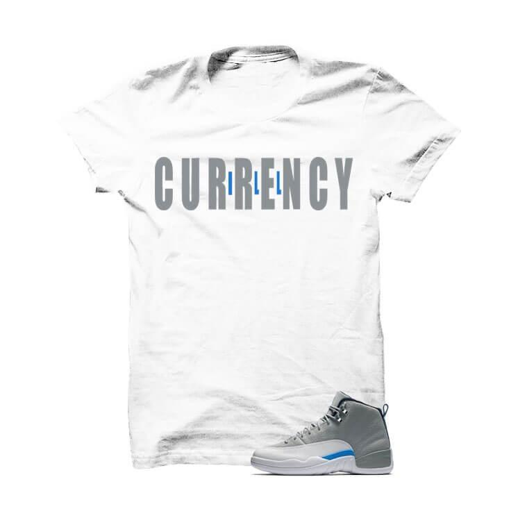 Jordan 12 Wolf Grey White T Shirt (Across)